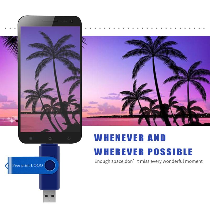 Pen Drive 128gb Memory Stick 64gb 8gb 4gb Metal OTG Pendrive 16gb Metal Usb Flash Drive 32gb Double Application Free Custom Logo (8)