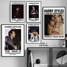 Harry Styles 2018 Tour Music Star Hot Poster And Prints Wall Art Modern Canvas Painting Wall Pictures For Living Room Home Decor(China)