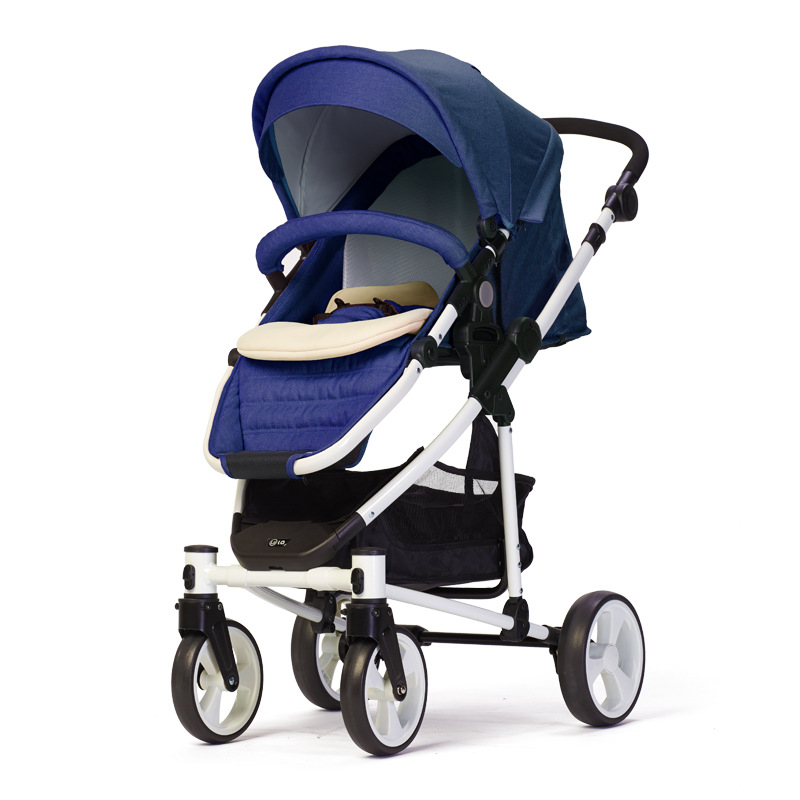 WLA Stroller Safety Stroller Lightweight High Landscape Four-wheeled Stroller Seat One Second Closed Stroller ...