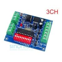 Wholesale 3CH Channel Easy DMX DMX512 LED Decoder Controller Dimmer Drive For LEDs Strip Light RGB