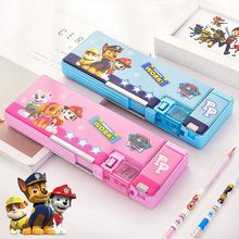 Deli Pencil Case Multifunction Kawaii Paw Patrol PVC Environmental Two-color Student Box School Supplies Children Gifts