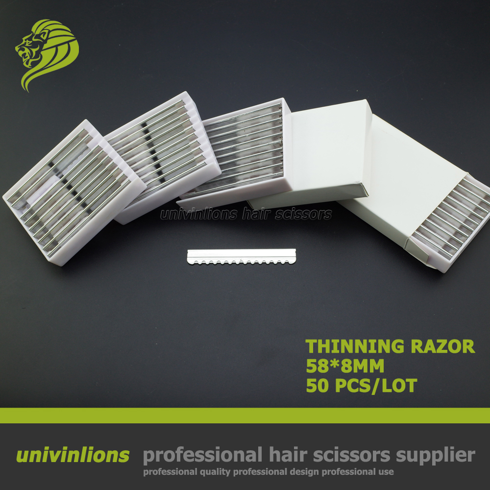 50 Pcs Professional Hair Razor Blade For Hair Cutting Razor Scissors Razor Thinning Hair Cut Straight Blade Hairdresser Supplies
