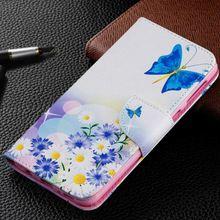 For Huawei Honor 10 5X 6C 7X 8 8A 8C V8 Mate 9 20 Lite P30 Pro Fashion Leather Wallet Case Cute Sunflower Flip Cover P07Z
