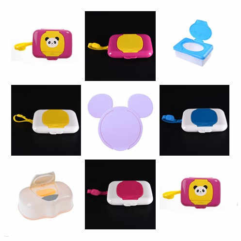 Plastic Baby Travel Storage Child Wet Wipes Box Changing Dispenser Holder Tissue Boxes Wipe Case