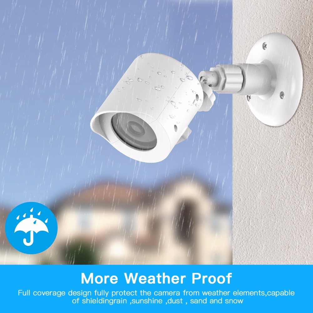 Yi Home Camera Wall Mount Bracket,Weather Proof 360 Degree Protective Adjustable Indoor & Outdoor Mount and Cover for Yi camera
