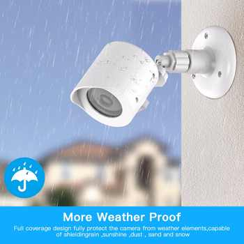 Yi Home Camera Wall Mount Bracket,Weather Proof 360 Degree Protective Adjustable Indoor & Outdoor Mount and Cover for Yi camera - DISCOUNT ITEM  0% OFF All Category