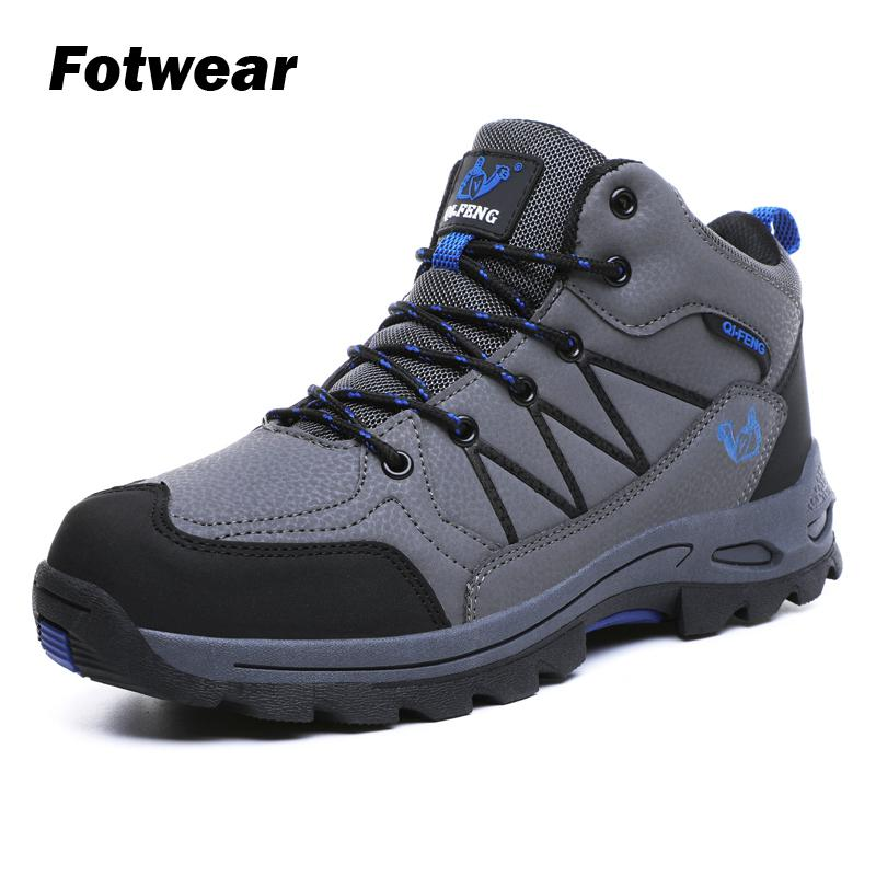 Fotwear Men's Winter Cotton Hiking Boots Men Casual Shoes Keeps Warm And Cozy For Winter Warmth Textured Soles Provide Traction