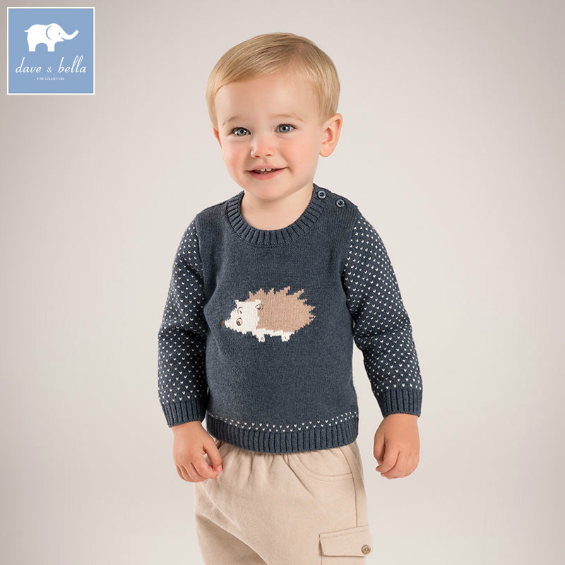 DB5529 dave bella autumn infant baby boys cotton wool pullover sweater lovely clothes toddler children knitted Sweater db2315 dave bella autumn winter baby boy turtleneck sweater infant clothes toddle cotton wool sweater boys plum sweaters