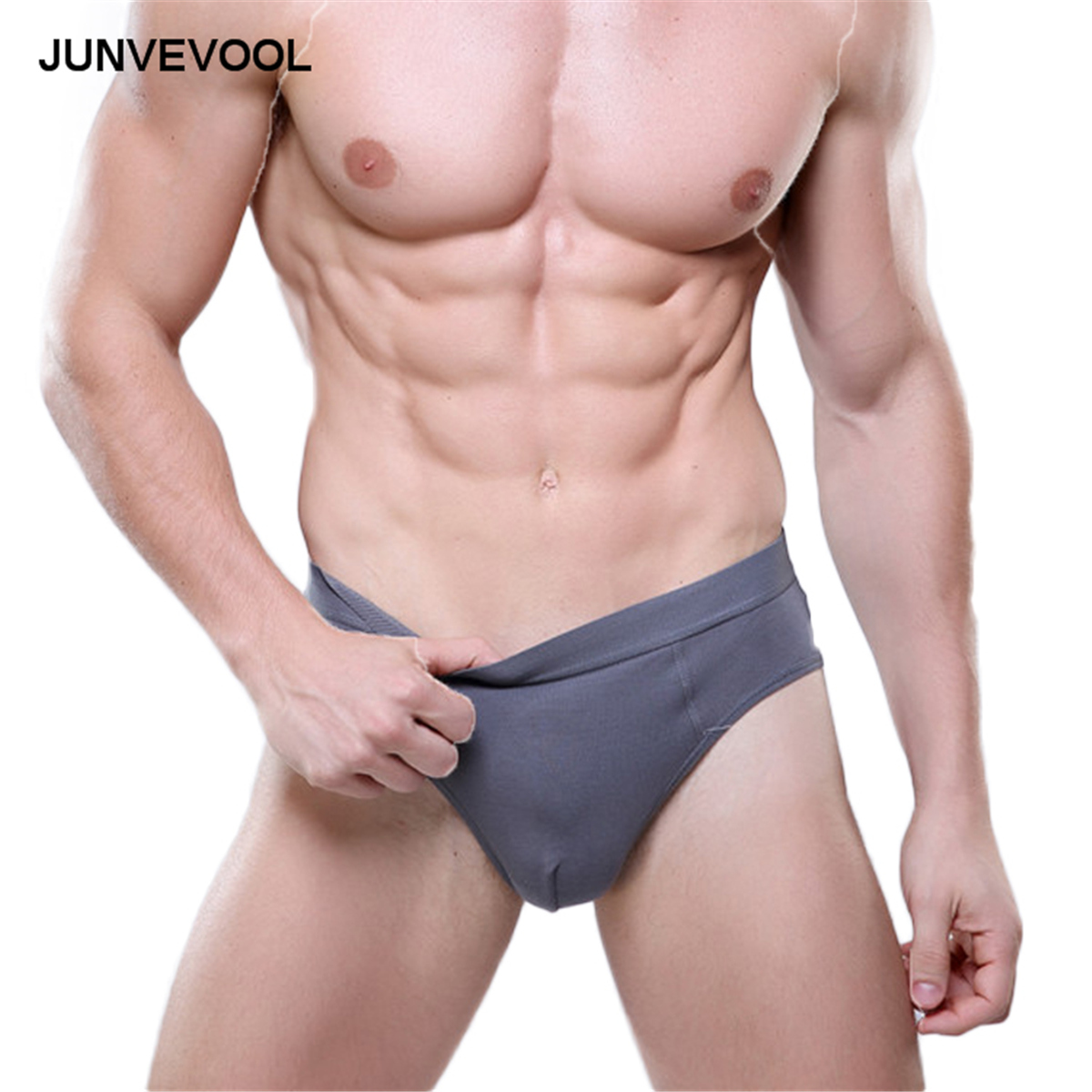 Solid Design Underwear Briefs Men Sexy Modal Underpants Shorts Breathable Mens Casual Underwears Breathable Brief Underwears