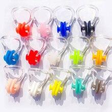 Clipe nasal de natação para adultos, clipe nasal de silicone macio reutilizável, confortável, mergulho, natação, 10 pçs/lote