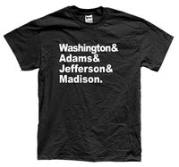 POWSTANIA OJCÓW shirt Washington Adams Jefferson Madison rewolucja koszulka unisex Więcej Rozmiar wolność i Colors-A864