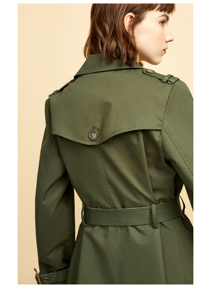 ONLY Women's Bi-tone Fabric Double-breasted Wind Coat 118336571 10