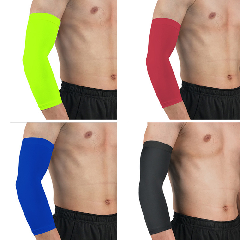 Arm Sleeve Solid Color Sports Elbow Pads Protective Gear Outdoor Basketball LFSPR0032