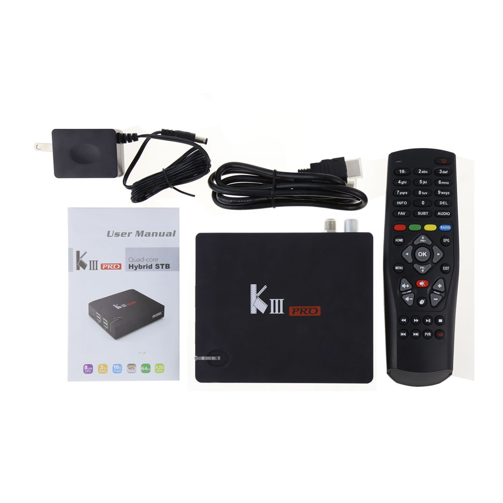 US $180 5 5% OFF|Nordic IPTV MECOOL KIII PRO DVB S2/T2 Set top box  4800+channels Europe Arabic German Israel Italy iptv subscription 1 year  free -in