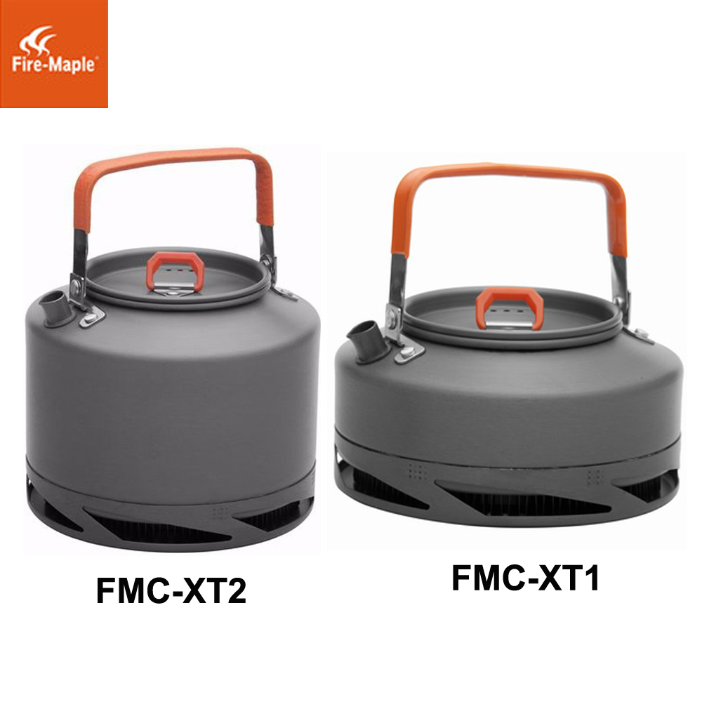 лучшая цена Fire Maple Outdoor Heat Exchanger Camping Kettle Collector Pot Tea Coffee Water Pot 0.8L 1.5L FMC-XT1/FMC-XT2