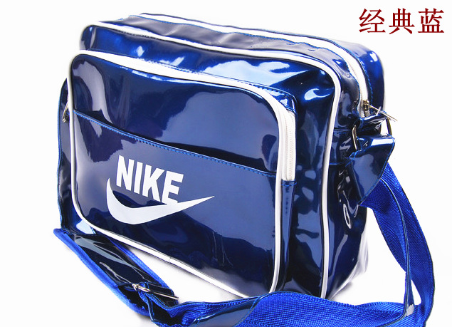 46fdf88bef 2014 Fashion Black Shoulder Handbag Bag Fashionable patent leather Man  Casual Sports Messenger Bags