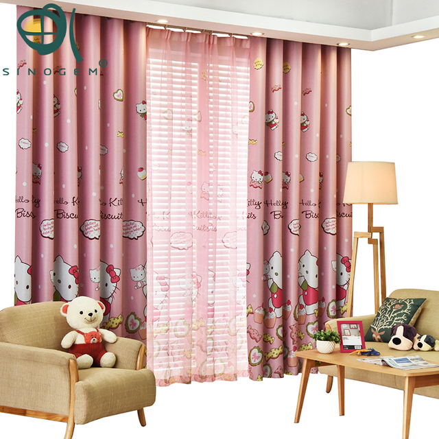 Curtain for girls Katie Cat Curtain Tulle Window Curtain Living Room ...