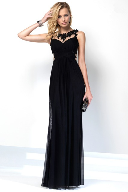 Flowy Black Prom Dresses