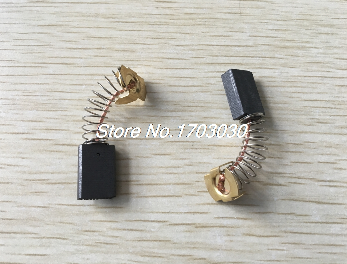 6 Pcs Spare Parts 5mm X 11mm X 16mm Carbon Brush For Dust Collector