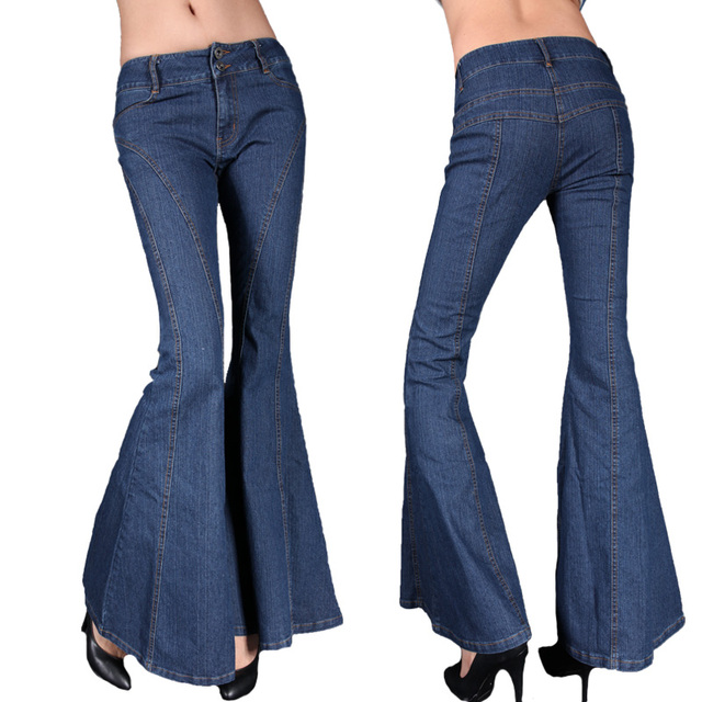 913d6a4cd1e Jeans big boot cut female slim butt-lifting trousers plus size pants women  denim cut