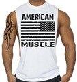 Atacado/Varejo dos homens colete de Fitness American muscle Regatas Musculação regatas
