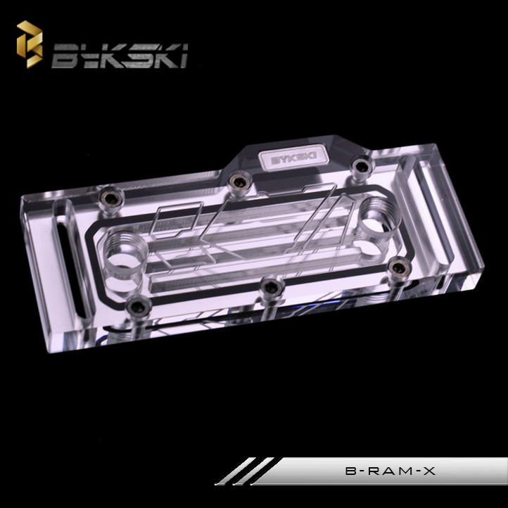 Bykski B-RAM-X acrylic water-cooling block RAM dual-channel / 4-channel compatible water-cooling kit bykski b ram x acrylic water cooling block ram dual channel 4 channel compatible water cooling kit