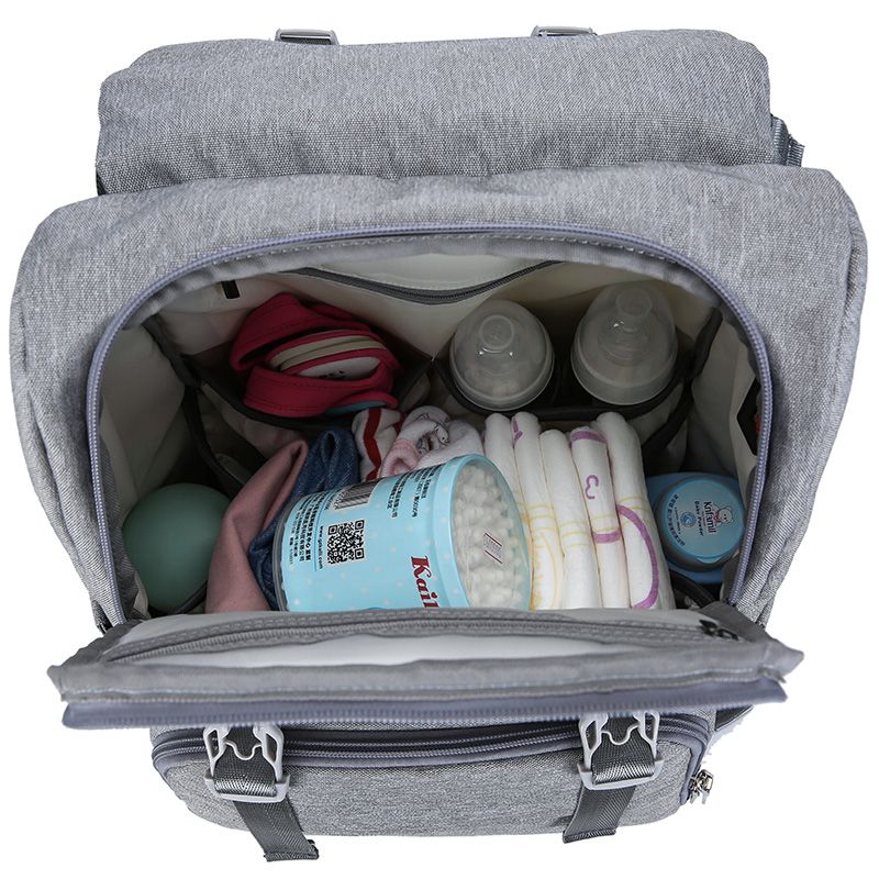 Image 5 - Baby Diaper Bag With USB Interface Large baby nappy changing Bag Mummy Maternity Travel Backpack for mom Nursing bags-in Diaper Bags from Mother & Kids