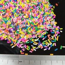 20 г/лот длинная цилиндрическая полимерная Горячая мягкая глина сбрызгиваемая красочная для рукоделия «сделай сам» крошечная Милая пластик...