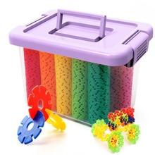 300-1200 pcs Snow Snowflake Building Blocks Toy Bricks DIY Assembling Classic Toys Early Educational Learning Toys