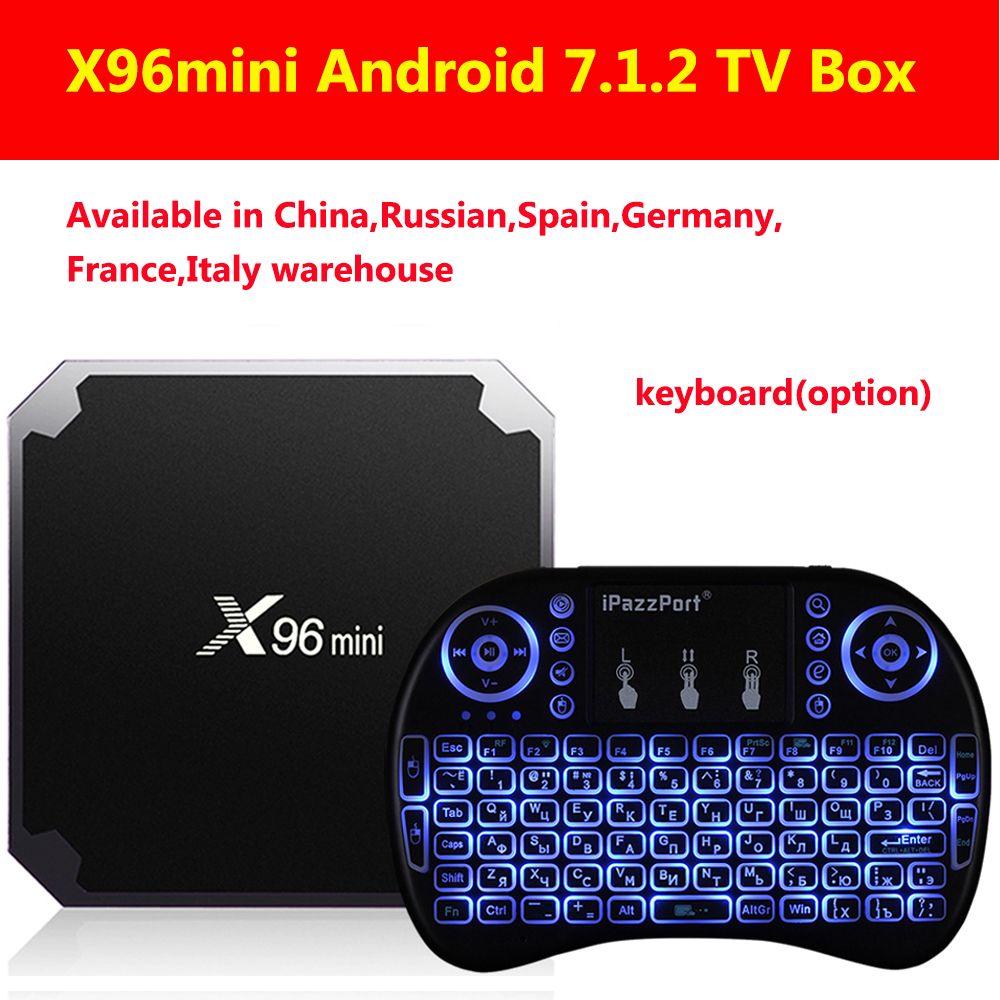 X96mini Android 7.1.2 TV Box Amlogic S905W 2GB RAM+16GB ROM/1GB+8GB Quad Core WIFI HDMI 4K*2K HD Smart Set Top BOX Media Player ourspop mk823 rii x1 air mouse quad core android 4 2 google tv player w 2gb ram 8gb rom xbmc