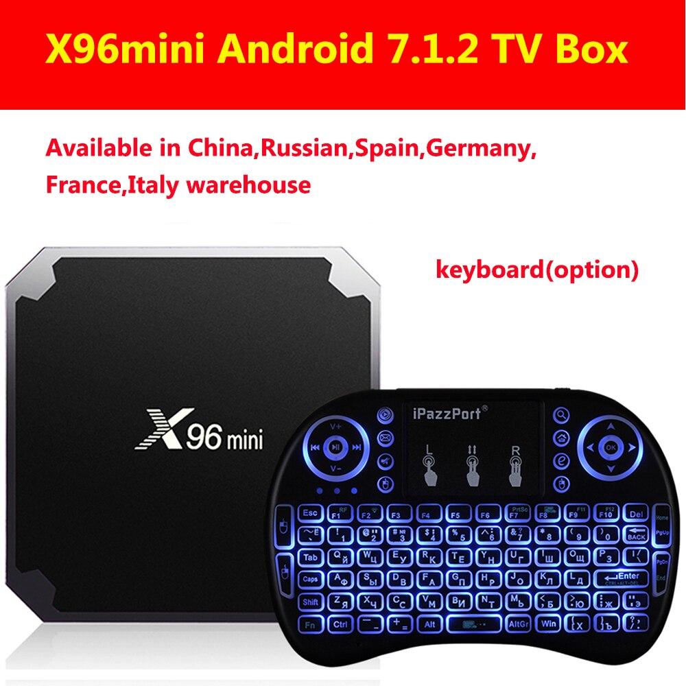 X96mini Android 7.1.2 TV caja Amlogic S905W 2 GB RAM + 16 GB ROM/1 GB + 8 GB Quad Core WIFI HDMI 4 K * 2 K HD Smart Set Top Box Media Player