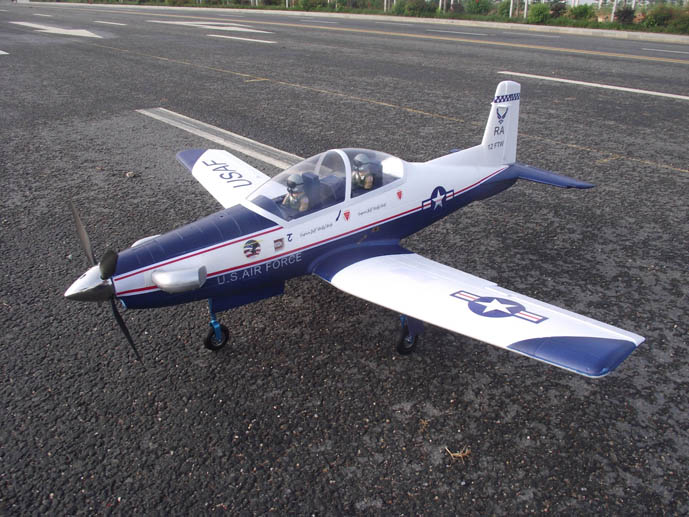 Pilatus t 6 warbird trainer electric rc airplane aircraft for Model airplane motors electric