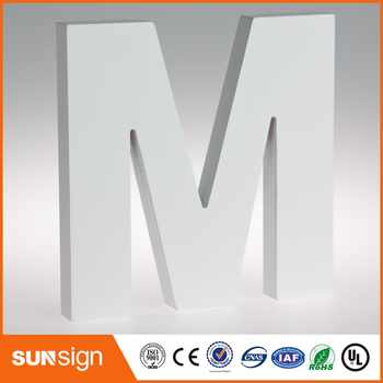Custom wall decorative white painted large wood letters - DISCOUNT ITEM  0 OFF All Category