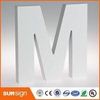 Decorativos de parede personalizado pintado de branco grandes letras de madeira