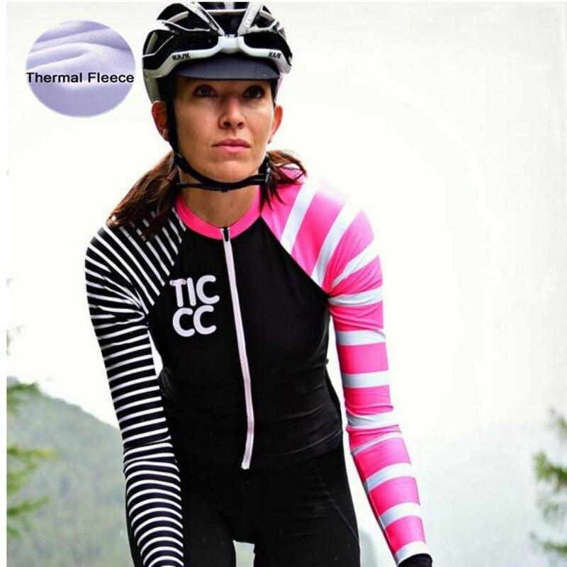 Bike Jersey Shirt Bicycle-Wear Cycling-Clothing Long-Sleeve Fleece Winter Women's