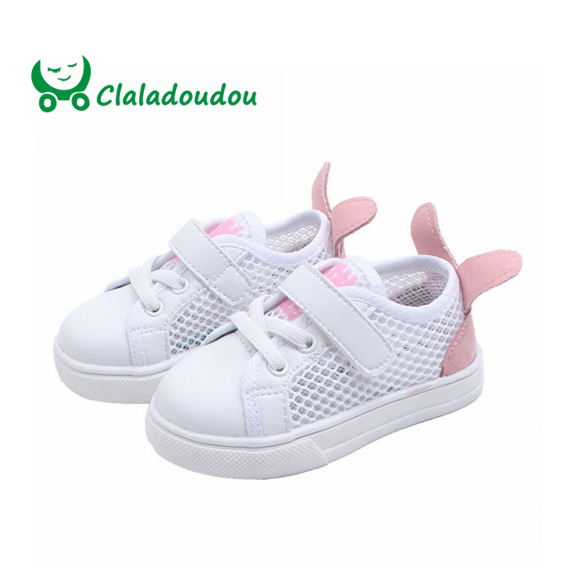 Claladoudou 12-14CM 2019 Fashion Cute New Born Baby Shoes Mesh Breathable Red Toddler Shoes Toddler Prewalker Shoes For Infants