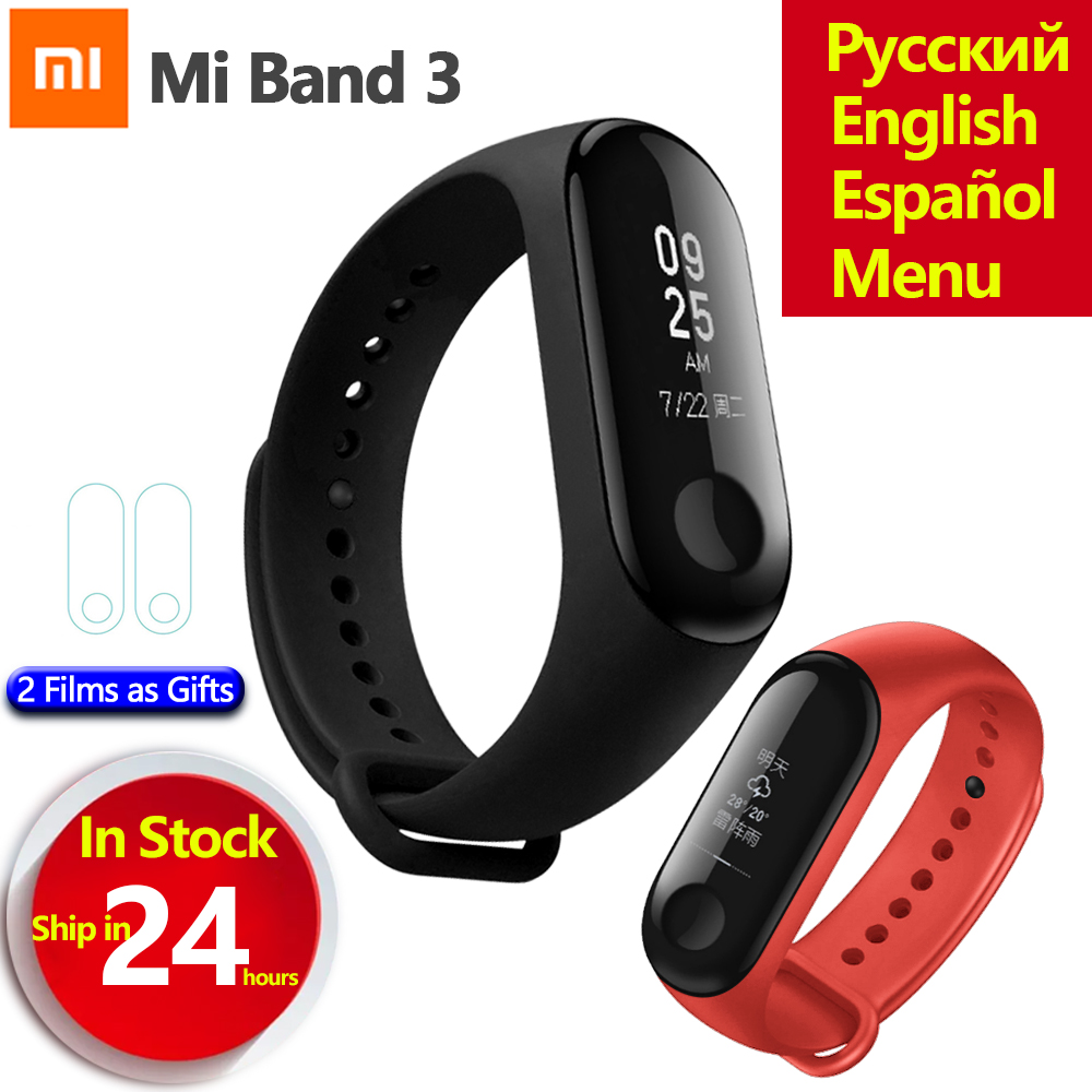 Original Xiaomi Mi Band 3 Miband 3 Smart Wristband Fitness Tracker Bracelet OLED Touch Screen Heart Rate Monitor Mi Band 3