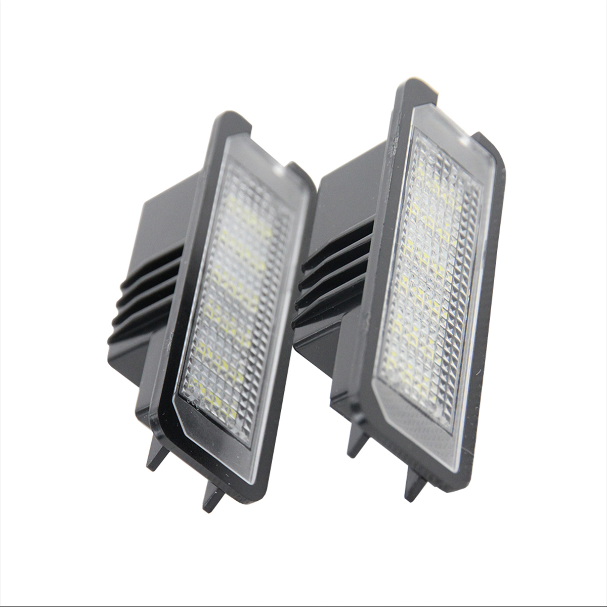Lámparas de luz de placa de matrícula LED de 2 piezas 12V para VW GOLF 4 5 6 7 Polo 6R Coche luces de matrícula accesorios exteriores