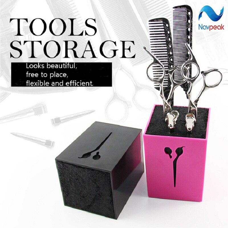 Scissors Comb Storage Box Hairdressing Supplies Tool Storage Scissors Comb Box Socket 1pc
