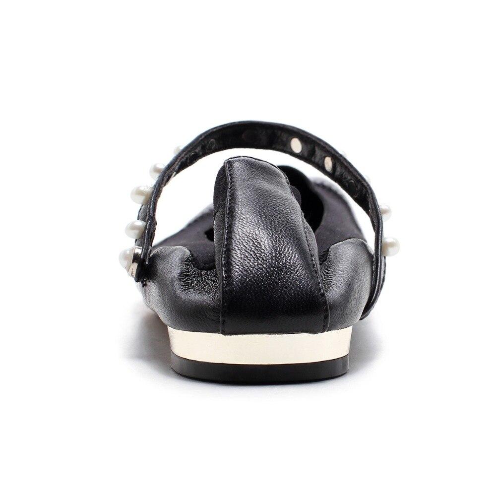 Femme Boucle Ballet Automne Arden 2018 Rivets Chaussures Printemps Furtado La Pour Petit 33 Black Leather bling Taille 40 Bling Appartements Sangle rdxoeWCB
