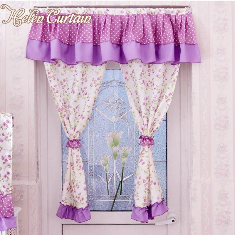 ᗗHelen cortina Venta caliente! Cocina 100% algodón Cortinas corta