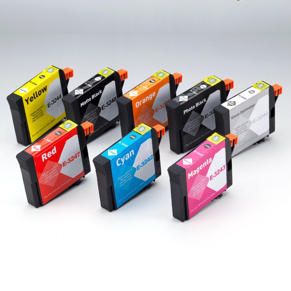 INK WAY Ink way 40 PCS T3240 324 Ink cartridge with chip and pigment ink for Epson SureColor P400 Wide Format Inkjet Printer 11colors 200ml empty ink cartridge with ink bag for epson stylus photo 4900 printer with arc chip