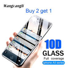10D Full coverage protective glass for iPhone6 6S 7 8 plus X XR XS MAX Tempered iphone7S 8S screen protector film