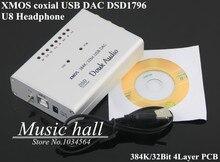 Music-Hall 2015 Dernières Salut-Res 384 K/32bit XMOS U8 USB DSD1796 DAC Portable Préampli Casque Amp SPDIF RCA