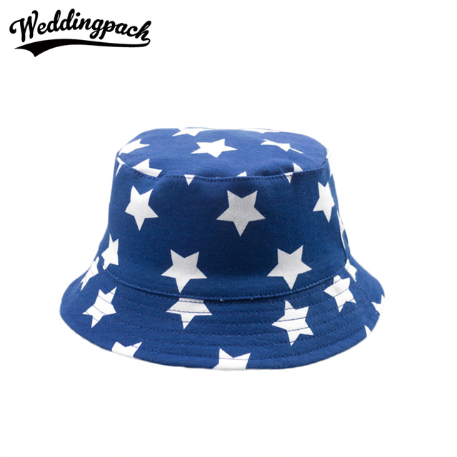 3e8e89b1fbe Cotton Trendy Kids Bucket Hat Cute Star Printed Cap Casual Outside Foldable  Unisex Summer Accessories Autumn Girls Clothing