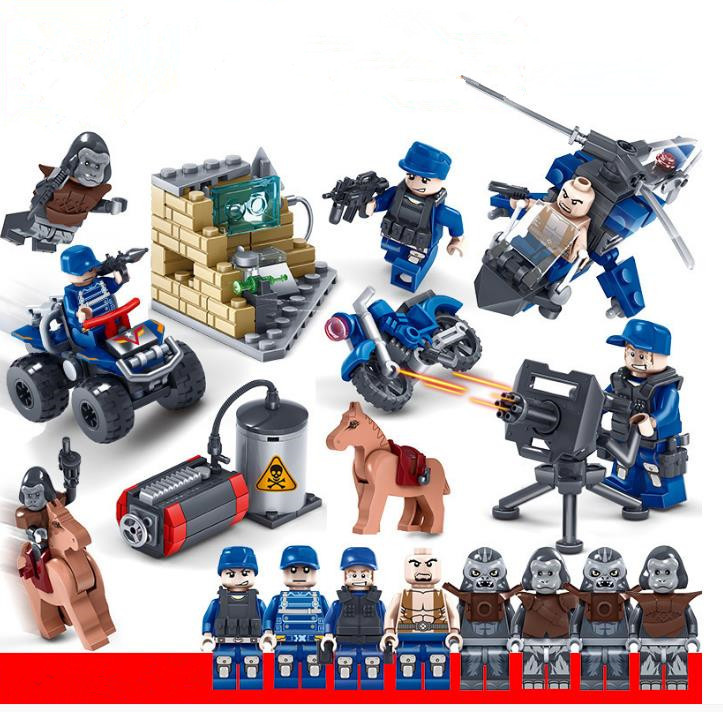 NEW 6pcs//lot DIY Multicolor Blank People mini figures Building Blocks Toys !