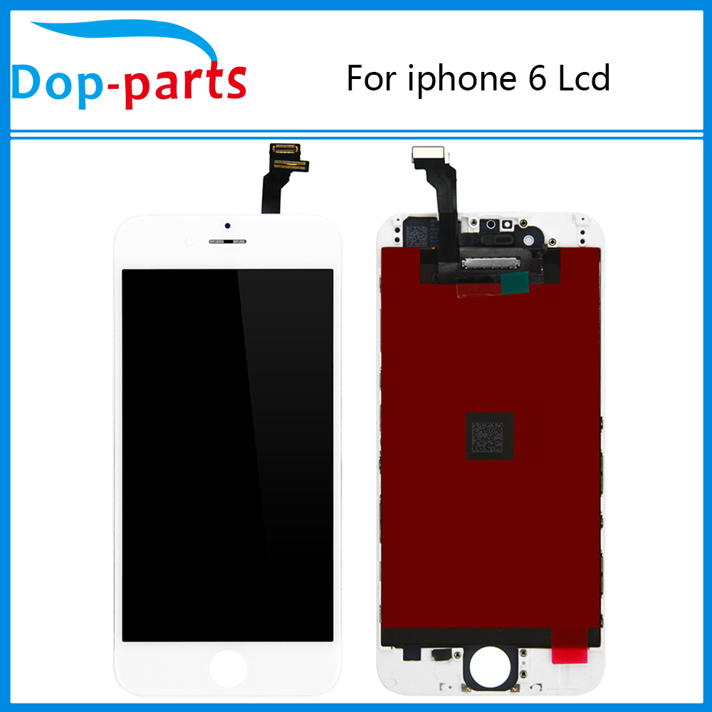 10PCS/Lot LCD Display For Iphone 6 4.7 inch and Touch Screen digitizer Assembly Black & White color Free DHL Shipping