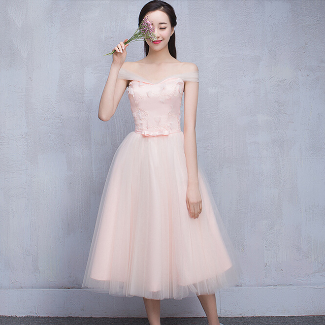 c78965d223338 robe de soiree 2017 convertible wraps vintage light pink sweetheart dress  bridesmaid party dresses for teens ball gown S3646