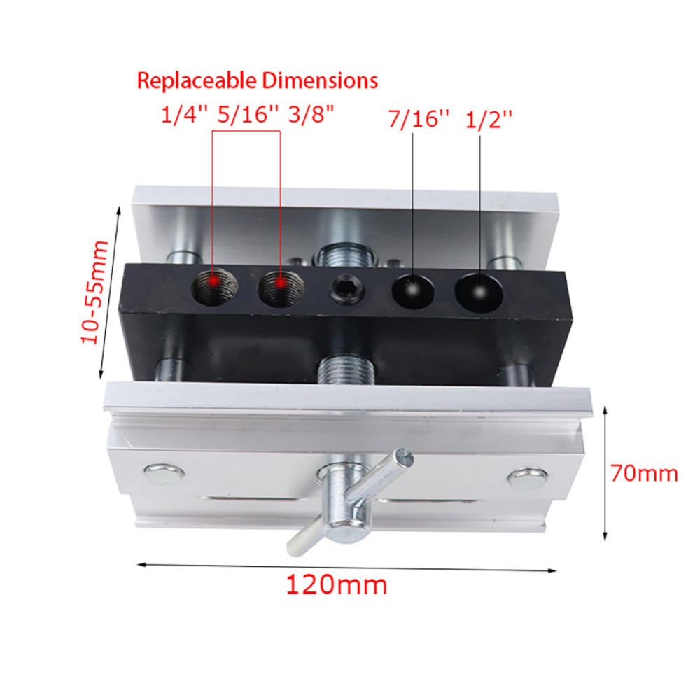 Woodworking Self-Centering Doweling Jig Kit Drill Guide Set With 1/4'' 3/8'' 5/16'' Drill Bushings Hole Jig Puncher Locator Tool