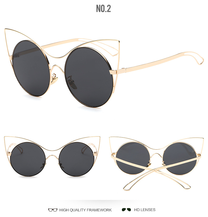 360a25d07971a Womens Brand Designer Cat Eye Sunglasses Women Cute Fashion Glasses for  Ladeis or Female Vintage Sun Glasses D Eyewear Gafas -in Sunglasses from  Apparel ...